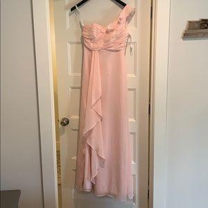 David's bridal one shoulder dress - sz 4